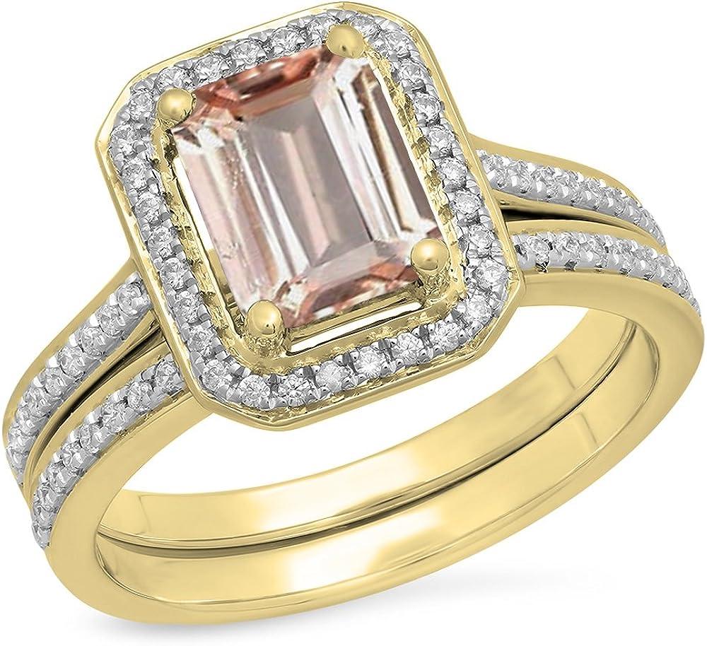 Max 67% OFF Dazzlingrock Collection 3.20 Carat ctw supreme 10K Cut Emerald Gold Pe