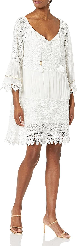 M Made in Italy Women's Lace-Trim Tassel Bodo Dress