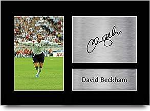 HWC Trading A4 David Beckham Engeland geschenken afgedrukt ondertekende handtekening foto voor fans en supporters - A4