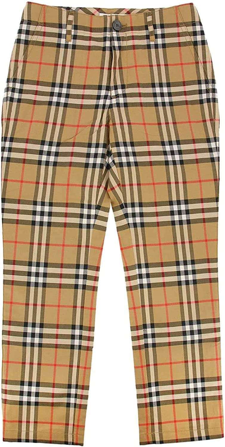 Burberry Boys Vintage Check Cotton Tailored Trousers, Brand Size 8Y