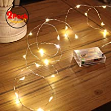 Ariceleo Led Fairy Lights Battery Operated, 2 Packs Mini Battery Powered Copper Wire Starry Fairy Lights for Bedroom, Chri...