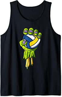 Zombie Hands Volleyball Funny Halloween Horror Scary Costume Tank Top
