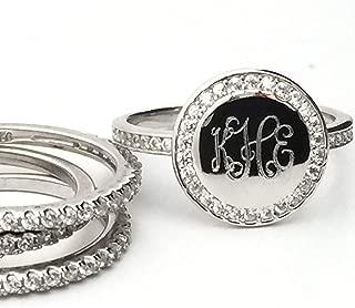 stackable monogram rings