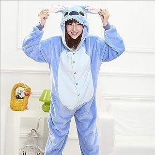 WJCRYPD Pyjama Sets Adult Onesie Animal Pajama Adult Men Women Lovely Cartoon Cute Party Suit Thicker Warm Sleepwear Qf sh...