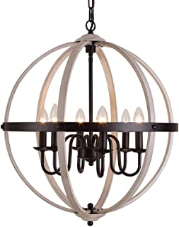 Q&S Farmhouse Chandelier Rustic Chandeliers Global...