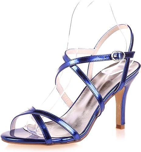 Elegant high chaussures Sandales De Mariage pour Femmes Peep Toe Plate-Forme Printemps Et éTé Satin Mariage SoiréE 9920-08