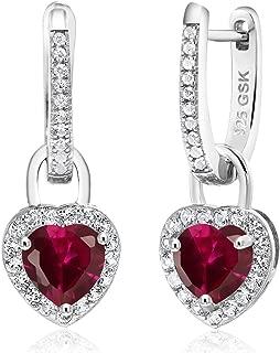 pink sapphire chandelier earrings