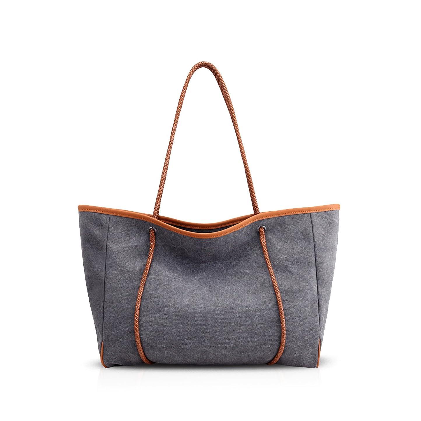 意気揚々暖炉カビNICOLE&DORIS 新しいハンドバッグ ファッション感たっぷり女性のトートバッグ シンプルスタイルショルダーバッグ レディース 大容量 キャンバス