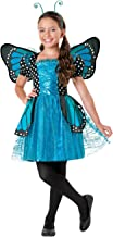 Halloween Girl Brilliant Butterfly Blue Costume with Wing & Headband