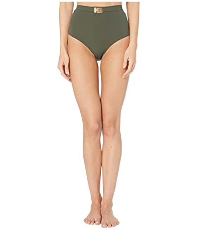 Tory Burch Swimwear T-Belt High-Waisted Bottoms (Green Olive) Women