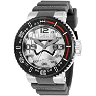 Invicta Men's Star Wars Stainless Steel Quartz Watch with Silicone Strap, Light Grey, 29.8...