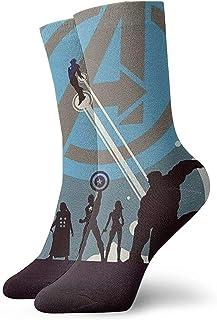iuitt7rtree Calcetines deportivos para jóvenes, calcetines de Mar-vel Heroes Crew Calcetines para exteriores para Gilrs y ...