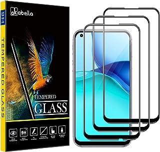 Huawei P40 Lite skärmskydd, AKABEILA [3-pack] kompatibel med Huawei P40 Lite 4G/5G härdat glas premium [full täckning] HD-...
