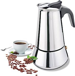 FCUS コンロ式エスプレッソメーカー モカポット 6カップ パーコレーター イタリアンコーヒーメーカー クラシックカフェメーカー ステンレス IH調理器対応