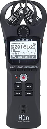 Zoom H1n Portable Recorder, Onboard Stereo Microphones, Camera Mountable, Records to SD Card, Compact, USB Microphone...