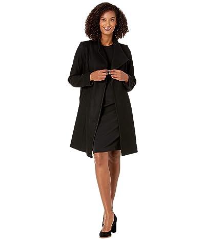 MICHAEL Michael Kors Asymmetric Wool Coat with Belt Coat M123890TZ (Black) Women