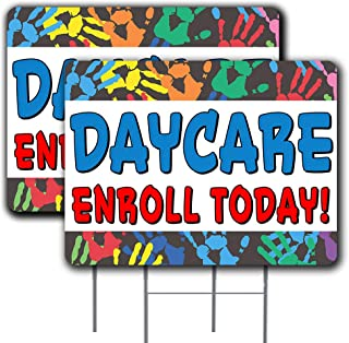2 Pack Daycare Enroll Today Yard Sign 18