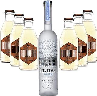 Moscow Mule Set - Belvedere Vodka 70cl 40% Vol  6x Goldberg Intense Ginger 200ml