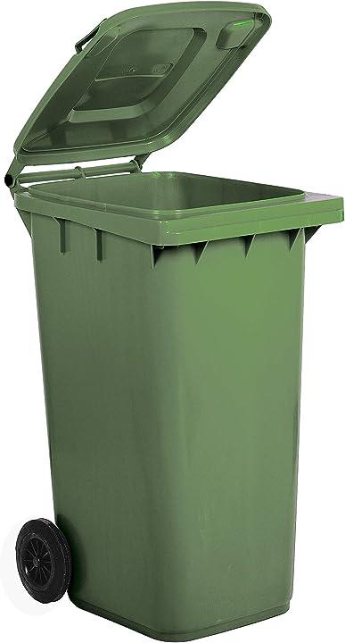 Bidone carrellato per la raccolta differenziata rifiuti mobil plastic 240 lt  per uso esterno 1/240/5-VEB