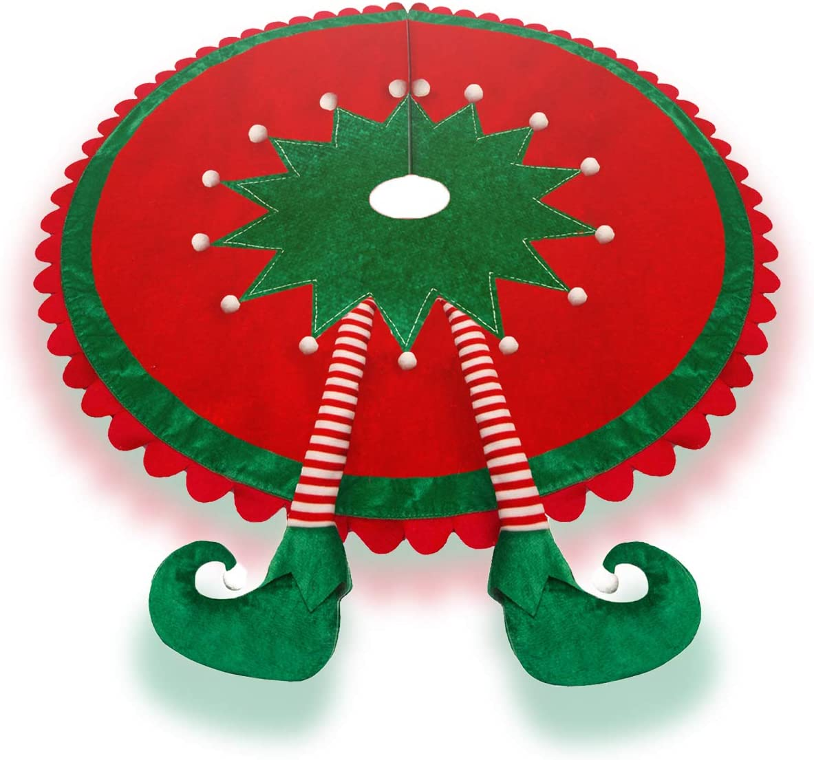 TangJing Elf Christmas Tree Skirt Legs.Ripple Save money with Tr Delightful shipfree