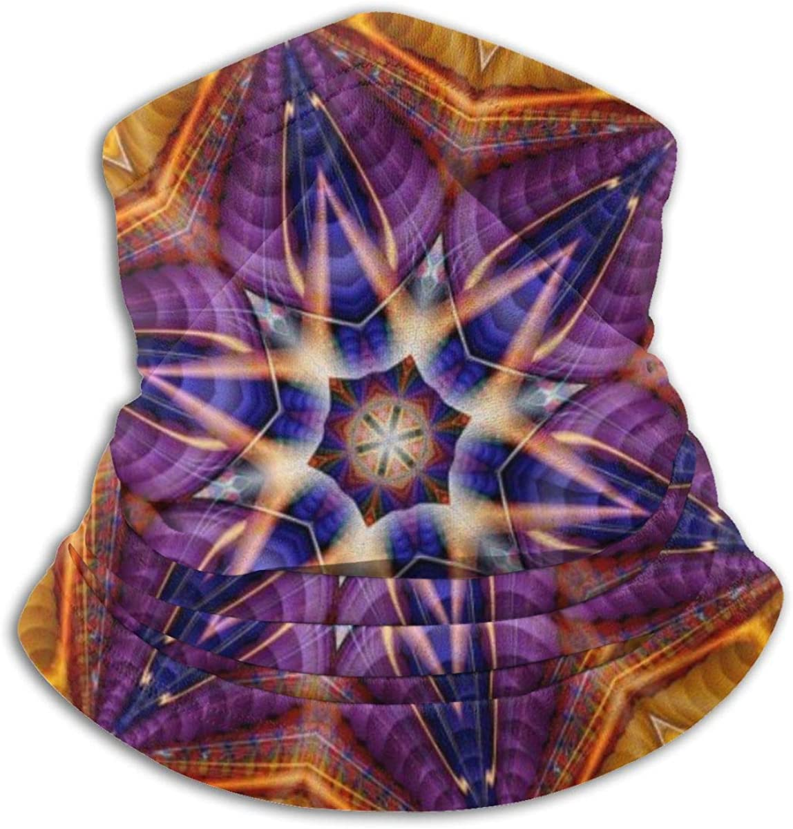 Kaleidoscope Pattern Black Multi-function Neck Warmer Gaiter Polyester Neck Warmer Windproof Winter Neck Gaiter Cold Weather Scarf For Men Women