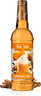 Jordan's Skinny Mixes Sugar Free Coffee Flavoring Syrup, 25.4 Ounce Bottle, Pumpkin Spice, 152.4 Fl Oz