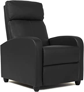 Wingback Recliner Chair Leather Single Modern Sofa Home...