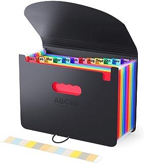 Trieur A4 / Range Document/Rangement Papier 12compartiments- ABClife Trieur Valisette Rangement documents Classeur a4 Orga...