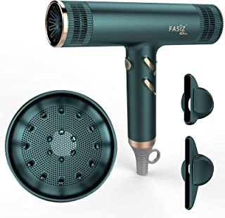 Secadores de pelo FASIZ, secador de pelo de salón iónico profesional, ligero de secado rápido y bajo ruido, ligero