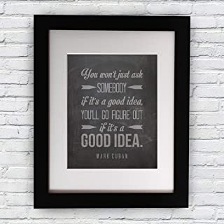 Mark Cuban Quote Inspirational Quote Wall Art Print Home Decor