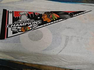 2013 CHICAGO BLACKHAWKS STANLEY CUP CHAMPIONS HOCKEY PENNANT FULL SIZE 30 X 14