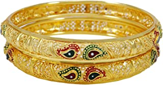 Ethnic Traditional Goldplated Bangle Set Indian Bracelets Wedding Jewelry