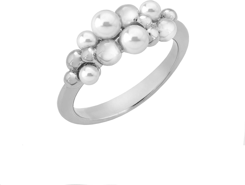 Majorica Fuga Women's 3-4mm White Round Pearl 7 unisex Cluster Virginia Beach Mall