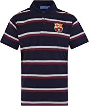 FC Barcelona Official Soccer Gift Mens Striped Polo Shirt