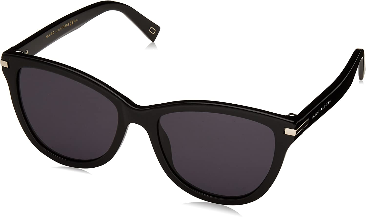 Marc Jacobs Women's Marc187s Polarized Cateye Sunglasses, Black, 54 mm