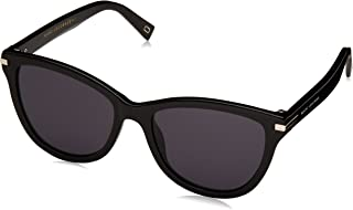 Marc Jacobs Women's Marc 187/S IR 807 54 Sunglasses, (Black/Grey Blue)
