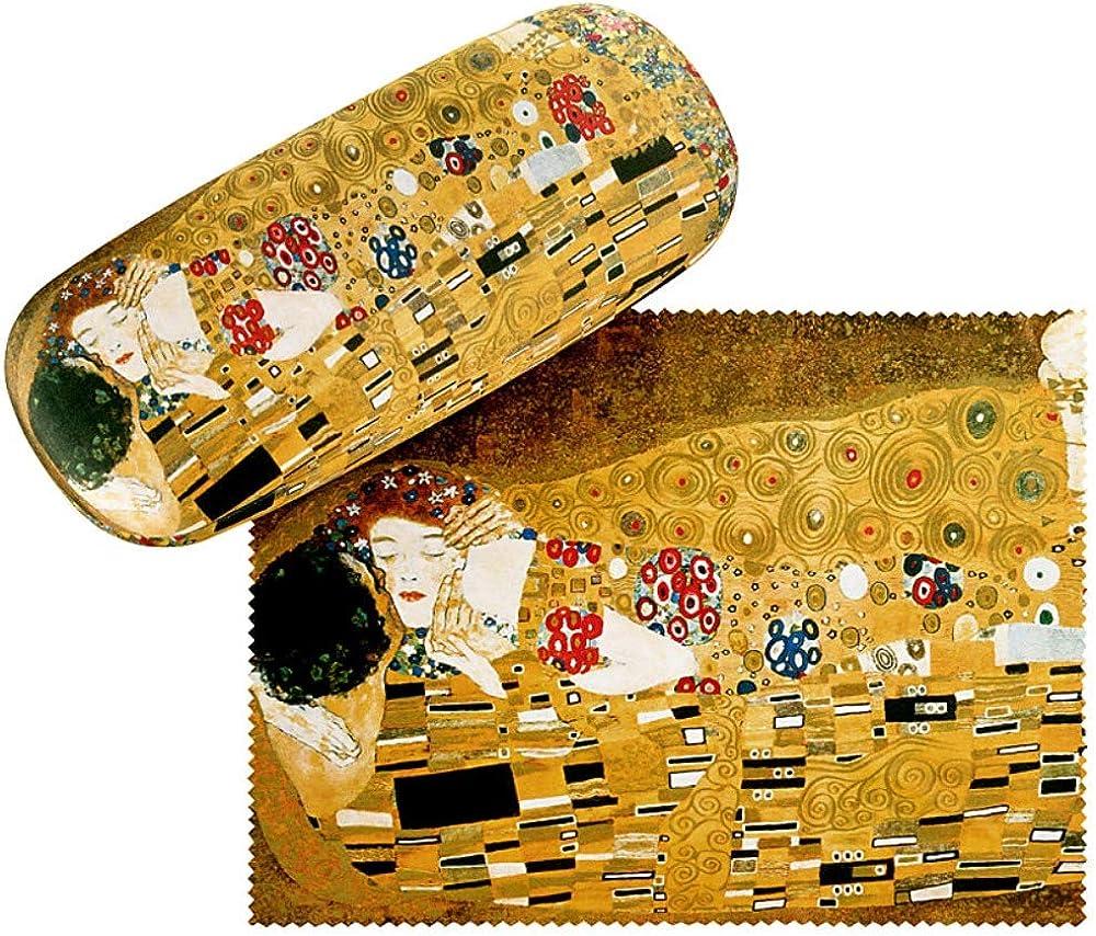 VON LILIENFELD Estuche Gafas Arte Gustav Klimt: El beso Funda Ligeramente Estable Colorido Regalo Mujer Hombre