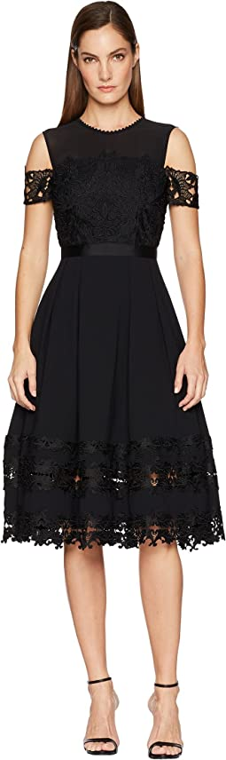 Nacii Structured Lace Midi Dress