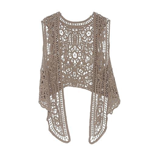 96ed2242cb206 Pirate Curiosity Open Stitch Cardigan Boho Hippie Crochet Vest
