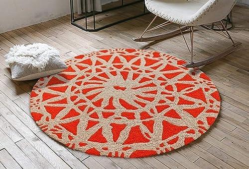 Blanket Peut être lavé, Motif Floral sous Vide et Tapis de Velours dans Une Chambre à Coucher Ronde