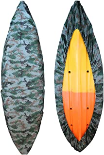 Mexidi 8.5-19.7ft Professional Waterproof Camouflage Kayak Storage Cover Boat Cover Canoe Storage UV Dust Storage Cover Protection Sunblock Shield