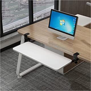 スライド 式 キーボード トレイ ホワイト 桌面扩展器 夹具式键盘滑动器 キーボードスタンド 52cm、65cm、75cm