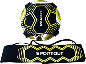 Sportout Kick trainer, voetbaltrainingshulp, perfect voor de verbetering van de voetbalvaardigheden, geschikt voor ballen ...