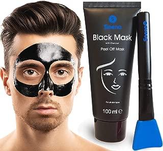 Das ORIGINAL - SOENA for MEN Black Mask  MASKENPINSEL | XXL Tube 100 ml | Entfernt Mitesser – Peel-Off Maske - Gegen unreine Haut | Mit Aktivkohle | Schwarze Maske zum abziehen - Blackhead Maske