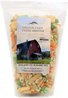 Oregon Farm Fresh Snacks - Willamette Wasabi Mix - Gourmet Snack Mix with a Kick (14 oz)