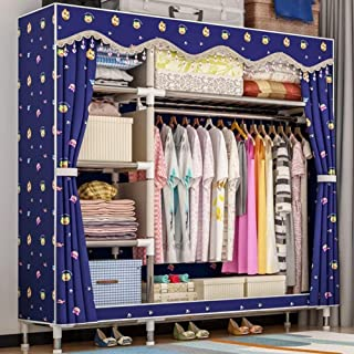 HWG Armoire Penderie Armoire Tissu Montage Simple Et Rapide, Solide Et Durable avec Rail Suspendu pour Chambre, Salon, Vêt...