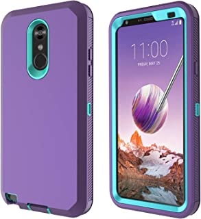 LG Stylo 4 Case, LG Stylo 4 Plus Case, LG Q Stylus Case Heavy Duty Built-in Screen Protector Defender Armor Shockproof Cover High Impact Resistant Rugged case for LG Stylo 4 Plus/LG Stylo 4 Purple