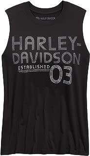 HARLEY-DAVIDSON Women's Established '03 Muscle Tank, Black