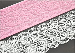 FOUR-C Flower Floral Lace Mat For Cake Large Silicone Cake Lace Mat Cake Decoration Sugar Craft Tools of Bakeware