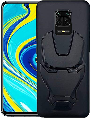 ZATX Marvel Avengers Iron Man 360 Degree Full Protection Silicon Back Cover for Redmi Note 9 Pro Max Redmi Note 9Pro Black